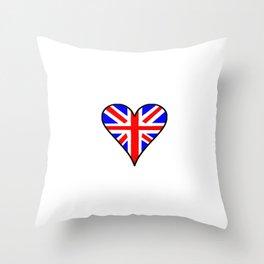 flag of UK 4- London,united kingdom,england,english,british,great britain,Glasgow,scotland,wales Throw Pillow