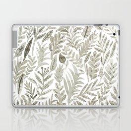 Grey Botanical Laptop & iPad Skin
