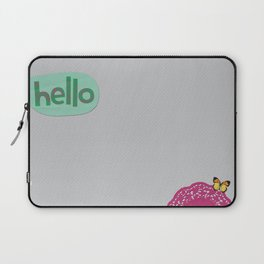 Hello in Green Laptop Sleeve