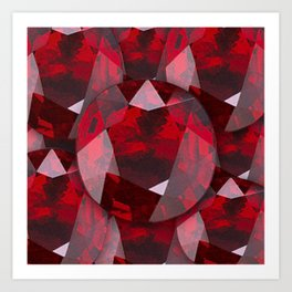 RED GARNET GEMS JANUARY BIRTHSTONE Art Print