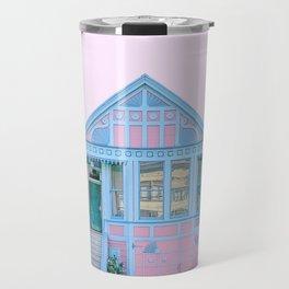 San Francisco Painted Lady Victorian House Travel Mug