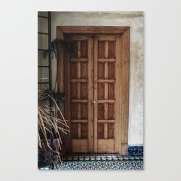 Doorway and Mexican Tile | Travel Photography | Architecture Canvas Print