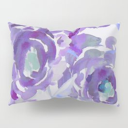 Purple Haze Painterly Floral Abstract Pillow Sham