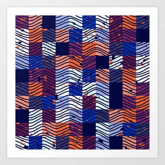 Square Wave Art Print