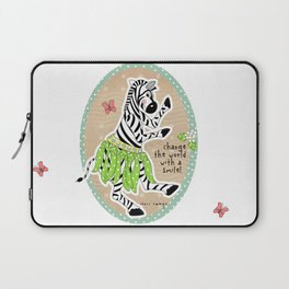 Change the World with a Smile Laptop Sleeve