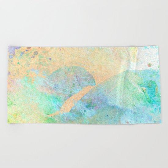 Pastel Color Splash 01 Beach Towel