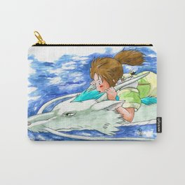 Ghibli Spirited Away Sky Illustration Carry-All Pouch