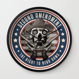 Second Amendment Wall Clock