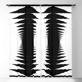 Black & White Accordion 02 (Fractal Art) Blackout Curtain
