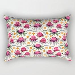 Waratahs & Craspedia (Cream) Rectangular Pillow