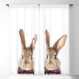 Baby Rabbit, Brown Bunny With Bow Tie, Baby Animals Art Print By Synplus Blackout Curtain