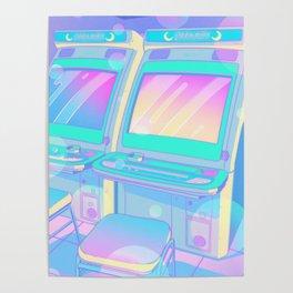 Pastel Glitch Poster
