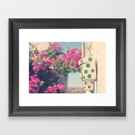 Nature and polka dots Framed Art Print