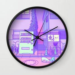 Pastel Tokyo Cats Wall Clock