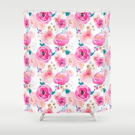 Indy Bloom Design Punchy Florals Shower Curtain