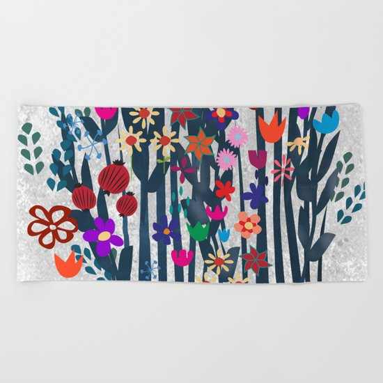 Garden Beach Towel