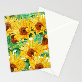 sunflower pattern Stationery Cards