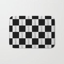 Checkerboard Pussy Bath Mat