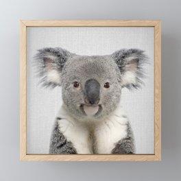 Koala 2 - Colorful Framed Mini Art Print