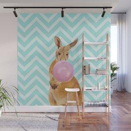 Bubble Gum - Kangaroo Wall Mural