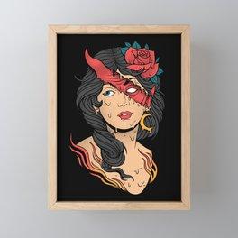 The Evil Inside Framed Mini Art Print