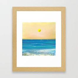 Blue and Green Water Framed Art Print