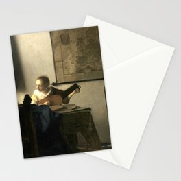 Johannes Vermeer Woman with a Lute Stationery Cards