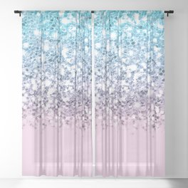 Dazzling Unicorn Gradient  Sheer Curtain
