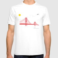 San Francisco. LARGE Mens Fitted Tee White