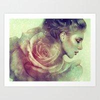 kpop Art Prints featuring June by Anna Dittmann