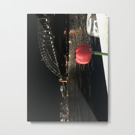 Red rose capture near the Harbour Bridge Metal Print