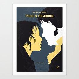 No584 My Pride and Prejudice minimal movie poster Art Print