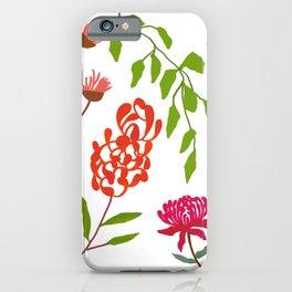 Australian flora on white iPhone Case