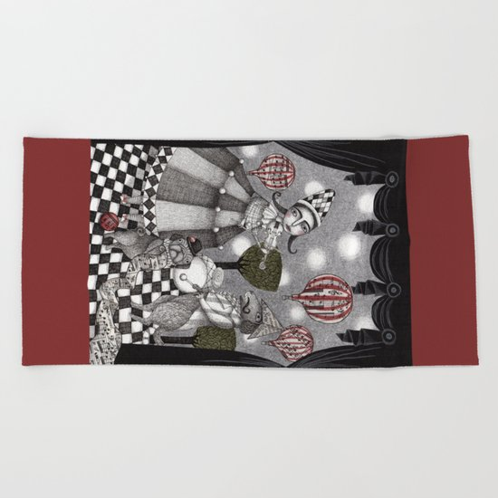 Alice's After Tea Concert Beach Towel