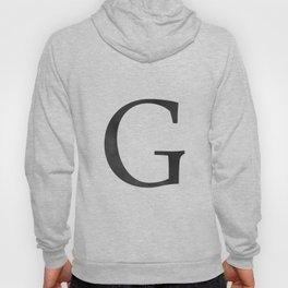 Letter G Initial Monogram Black and White Hoody