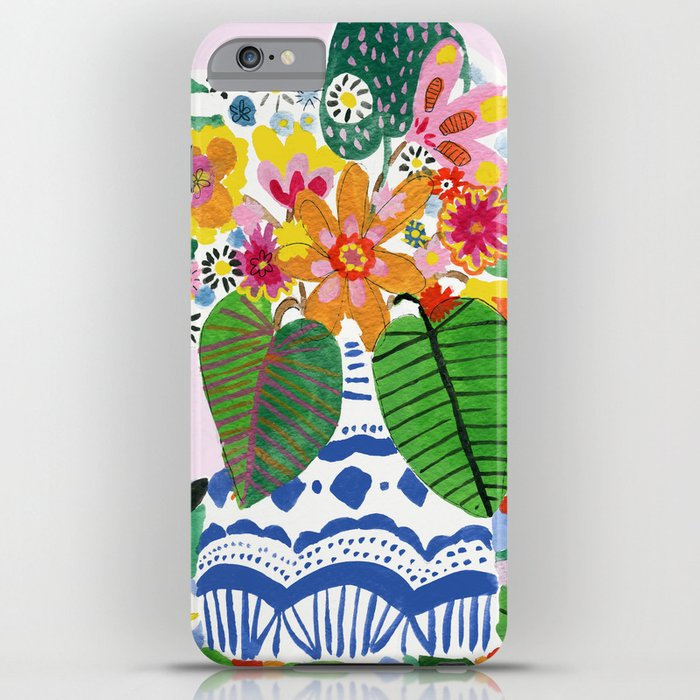 abstract flower bouquet iphone case