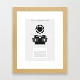 Things Your Kids Must Know: View-Master Framed Art Print