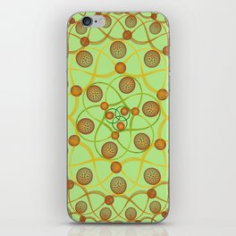 Spiral Round Green iPhone Skin