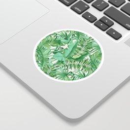 Green tropical leaves III Sticker