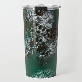 Rocks in the sea Travel Mug