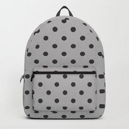 Large Dark Grey on Light Grey Polka Dots | Backpack