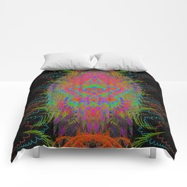 Visionary Flame II (abstract, psychedelic, trippy, psyart, meditation) Comforters