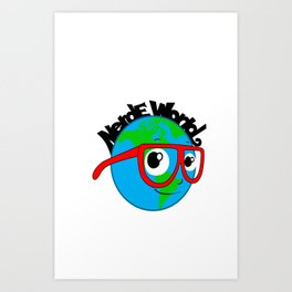 Nerde World Art Print