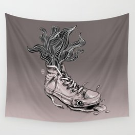 Tired Sneaker Wall Tapestry