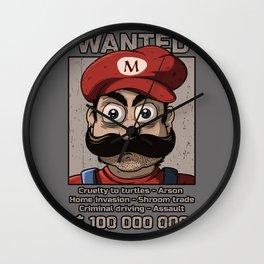 Wanted plumber Wall Clock