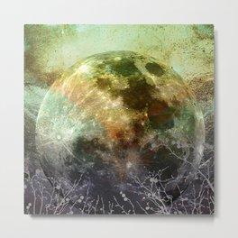 MOON under MAGIC SKY X-1 Metal Print