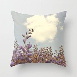 Purple Floral Horizon Throw Pillow