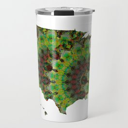 Unique Green And Brown Colorful Art - USA Map 41 - Sharon Cummings Travel Mug