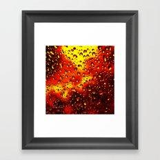 I set fire to the rain Framed Art Print