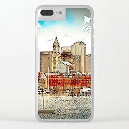 Boston Harbour, Boston, USA Clear iPhone Case